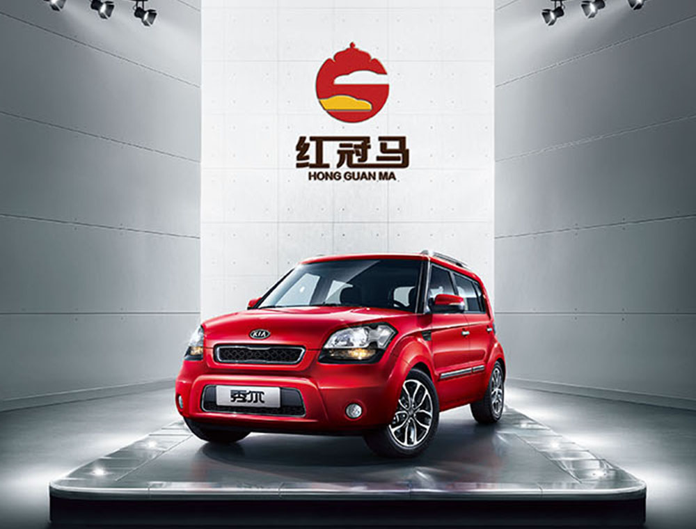 广西红冠马二手车品牌VI设计