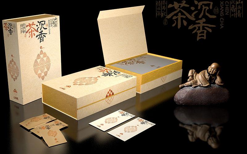 山渐青沉香茶礼盒包装设计12