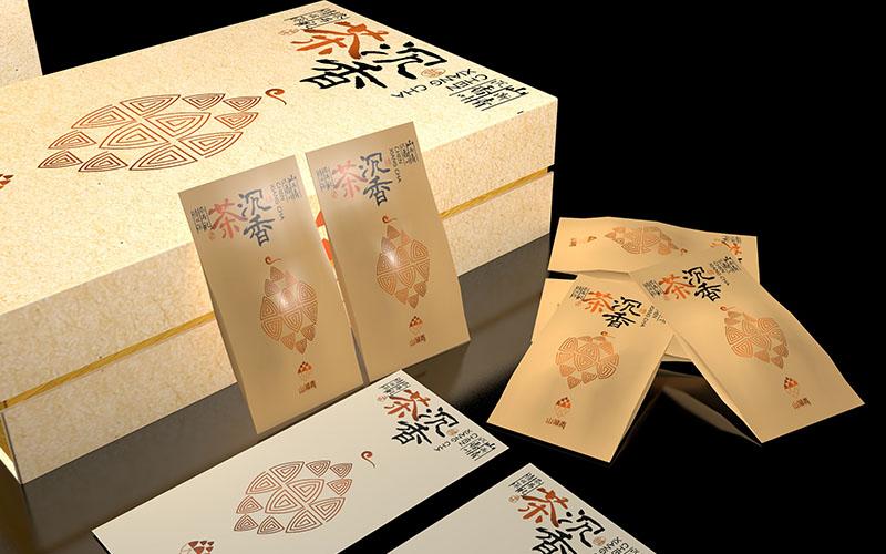 山渐青沉香茶礼盒包装设计11