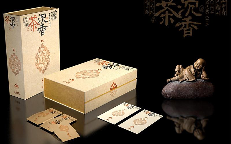 山渐青沉香茶礼盒包装设计13
