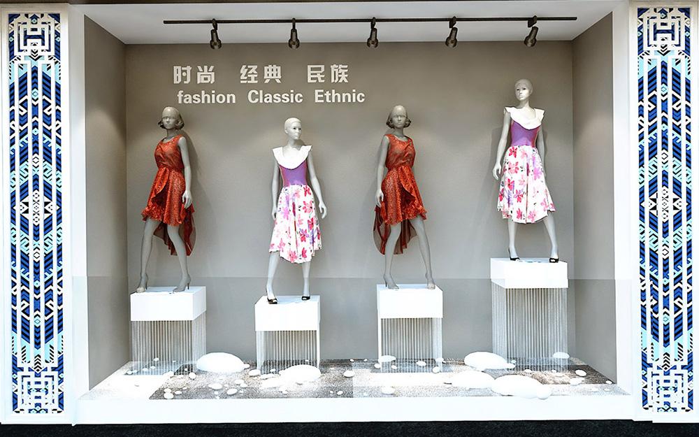 天景山丝绸展示厅空间设计方案