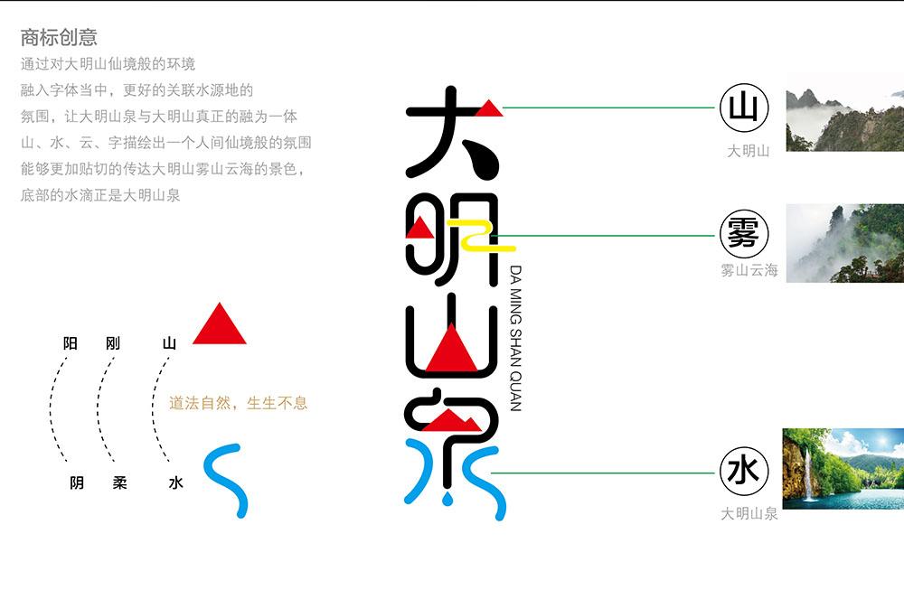 大明山商标设计-商标创意说明图