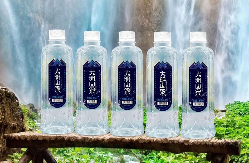 广西大明山泉包装设计-瓶型效果图展示效果06