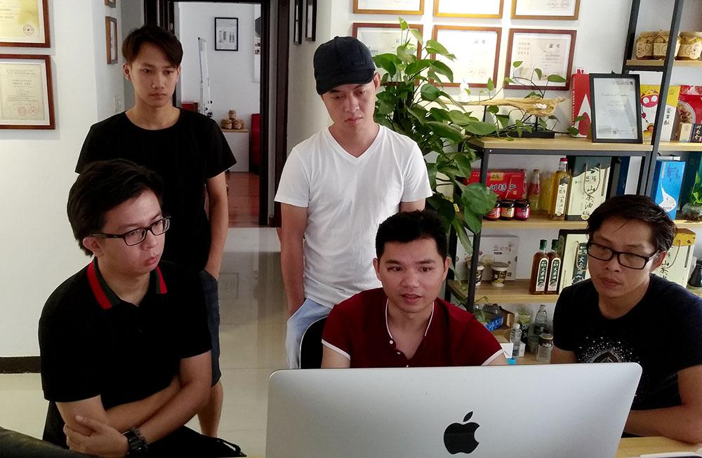 广西大明山泉包装设计-与大明山罗总进行方案讨论