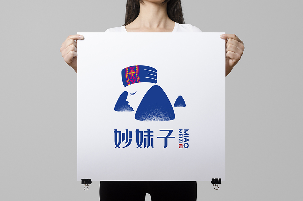 妙妹子标志设计(05)