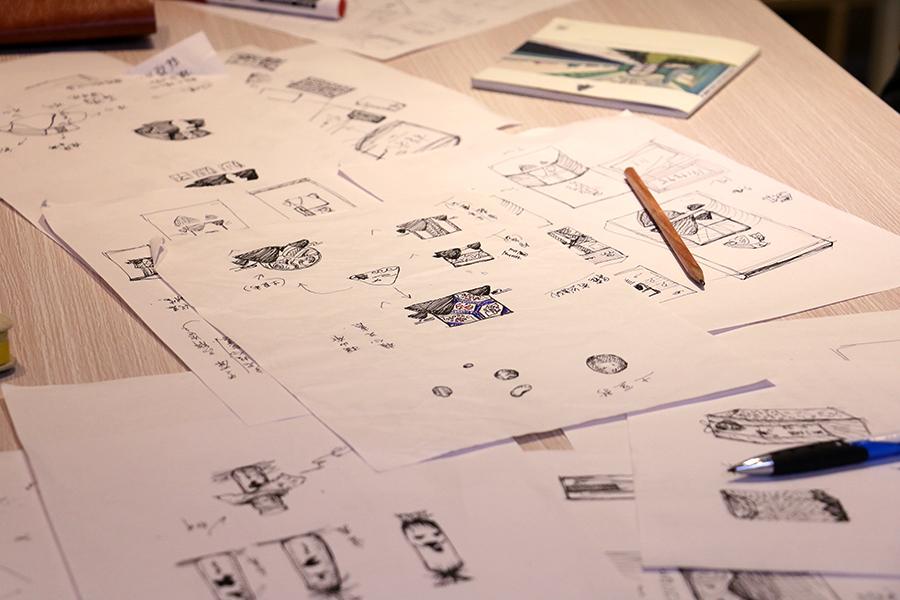 锐言设计包装手稿